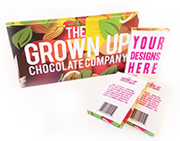 The Grown Up Chocolate Company - Packaging/Splash Page