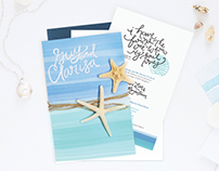 Beach Wedding Invitation Design