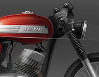 JAWA 350 / 634 cafe racer - custom sketches