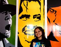 Handpainted Movie Mural @Creative Chisel Studio