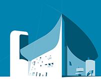 Serie de Posters para Minimae: Arquitectura Siglo XX