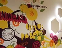 DC Storm office juice bar mural