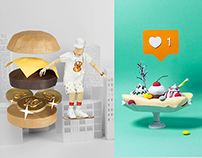 Papercraft Illustrations Spring 2015