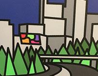 Illustration - Raleigh Skyline