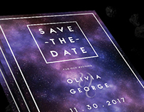 Space Wedding Invitations