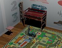 Kids Room (AutoCAD)