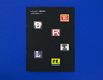 Type and a city. Magazine concept.