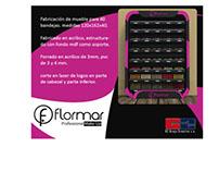 STAND de maquillaje para marca Flormar