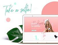 Take a selfie - landing page & marketing strategy