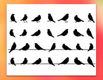 Sparrow Vector Silhouettes