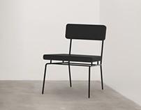 All-black chaise