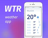 WTR weather app