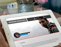 Personal Website Design For Shayan Shalileh