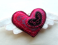 Heart Series : Pink Winged Heart (2009)