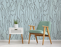 tree bark wallpaper print design