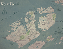 Fantasy Map. Kystfjell.