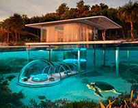 Underwater Bubble in Thailand by Rafał Jakubowski