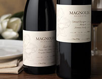 Magnolia Blossom Wine Label & Packaging