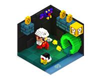 Super Mario Bros - VoxelArt