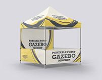 Portable Popup Gazebo Mockup