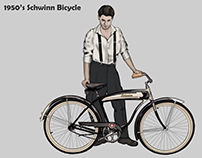 Schwinn Bicycle 50's art