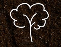 Plant Shop pictograms set