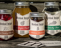 Dixieland Delight Moonshine Logo and Packaging