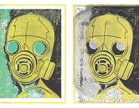 Printmaking: Screen & Lino: The Biohazard