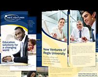 Brochure for New Ventures of Regis University