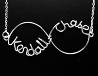 Custom Double Name Infinity Necklace - Dazzlyn' Wire