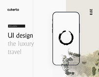 Luxury travel mobile app interface