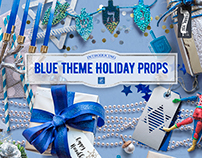 Blue Theme Holiday Props & 1 Freebie for you!