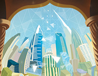 """Working with the middle east"" - Cover Illustration"