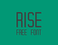 The FREE Rise Typeface