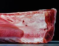Chop / Côtelette, 90 x 30 cm, oil on canvas