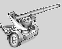 Artillery Canon Prop Concept Art