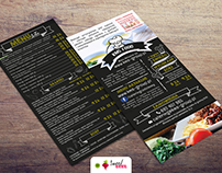 Flyer-menu design for KMS-group