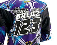 Name and number on the motocross jersey