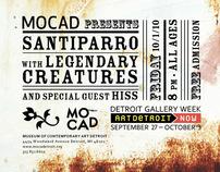 MOCAD Santiparro & Legendary Creatures Flyer