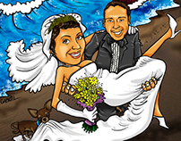 Cartoon made to sign as reminders in marriage.