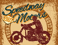 retro style motorcycle vector art