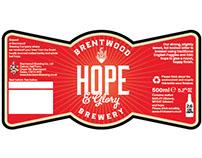 Hope & Glory Beer Label
