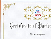 Certificate Design (Proud to be an Indian Campaign)