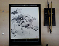 WORKSHOP SUIBOKUGA / 水墨画 / 水-WATER / 墨-INK / 画-PAINTING