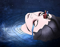 """Dancing on pain"" illustration"