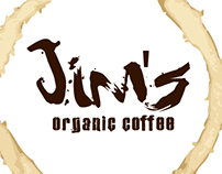 Jim's Organic Coffee branding campaign