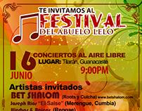 Afiche Promocional para Festival del Abuelo Lelo