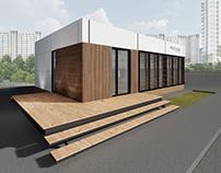 Проект здания отдела продаж для Brusnika Construction