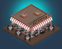 2D Isometric Coffee Shop