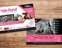 Yalla Banat Flyer /arabic & english/, Banners etc.